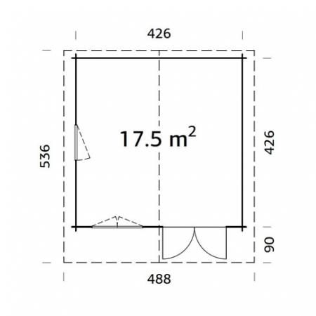 Britta 17.5m² footprint