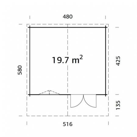 Britta 19.7m² footprint