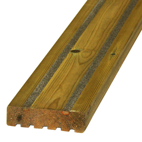 Softwood slip resistant decking smooth decking boards for Softwood decking boards