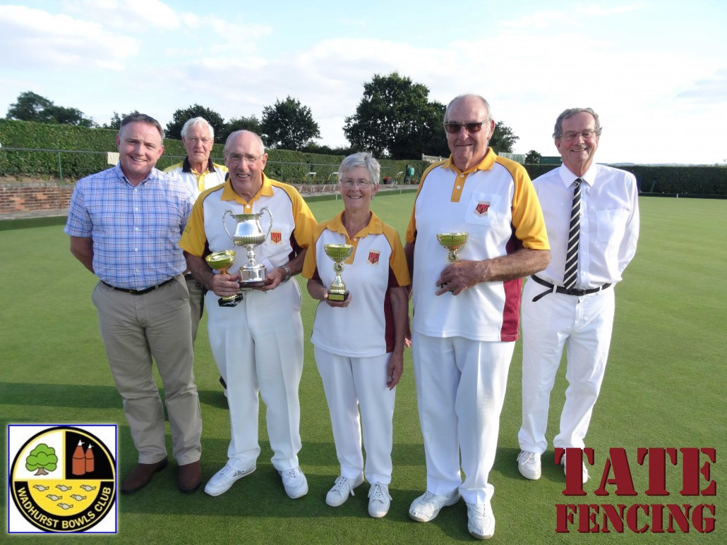Tate Fencing sponsor Wadhurst Bowls Club - Mixed Triples Tournament