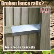 Fence rail bracket