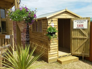 Weatherboard Shed on display at the Wealden Times Midsummer Fair 2017