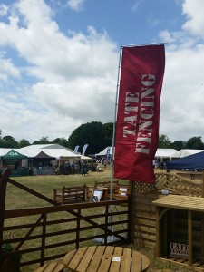 Tate Fencing Flag Flying at the Wealden Times Midsummer Fair