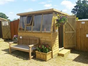 Potting shed at the Wealden Times Midsummer Fair 2017