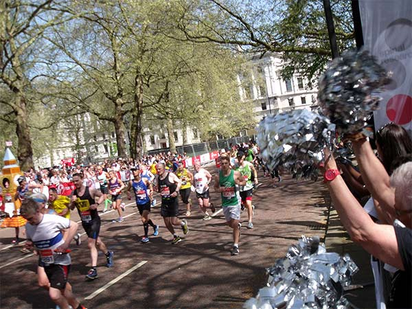 Matt running the London marathon