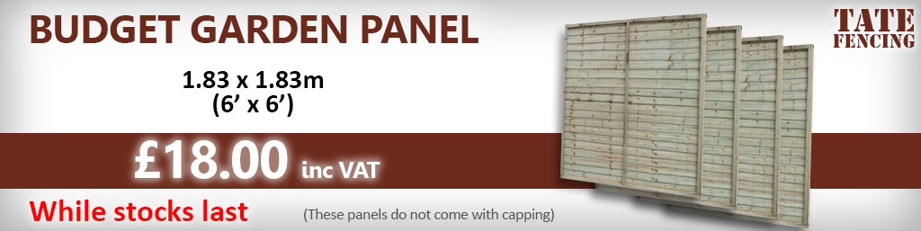 Tate Fencing Budget fence panel 6ft x6ft