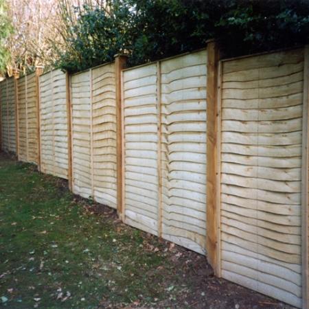 Installed Waney Edge Panels
