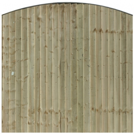 Front View of a Bow Top Closeboard Panel