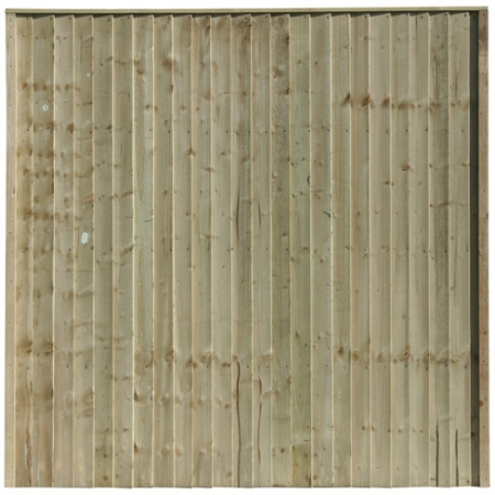 Front View of a Closeboard Panel