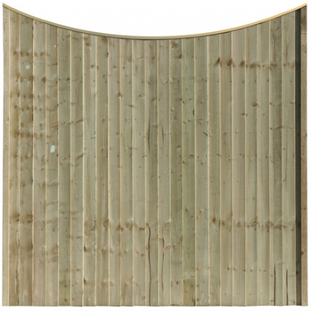 Front view of a Scallop Top Closeboard Panel