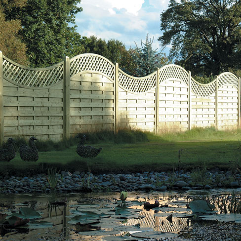 The York and Durham panels have been installed alternating to create a wave pattern.