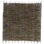 Front view of Willow Fencing Hurdle Panel