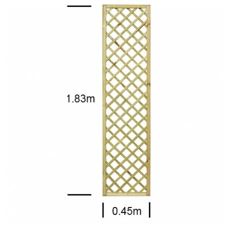 "English Rose 1'6"" wide x 6ft high trellis panel"