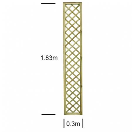 English Rose 1ft wide x 6ft high trellis panel