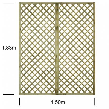 English Rose 5ft wide x 6ft high trellis panel