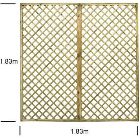 English Rose 6ft wide x 6ft high trellis panel