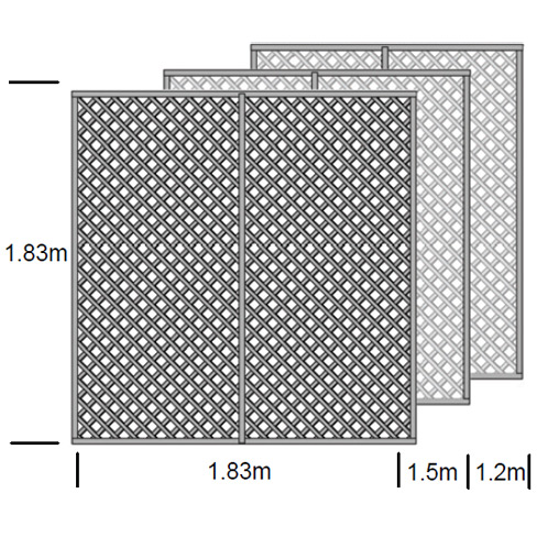 Clementine Diamond Trellis Panel specification