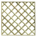 Half Round Framed Diamond Trellis
