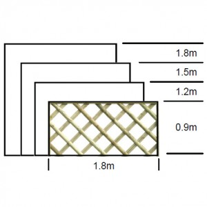 Half Round Diamond Trellis with frame detail specifications