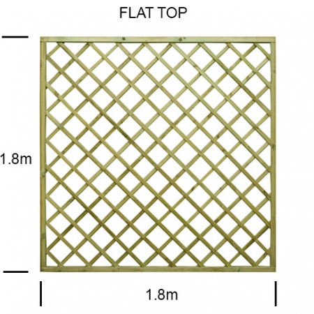 Regal Flat top diamond trellis panel specification