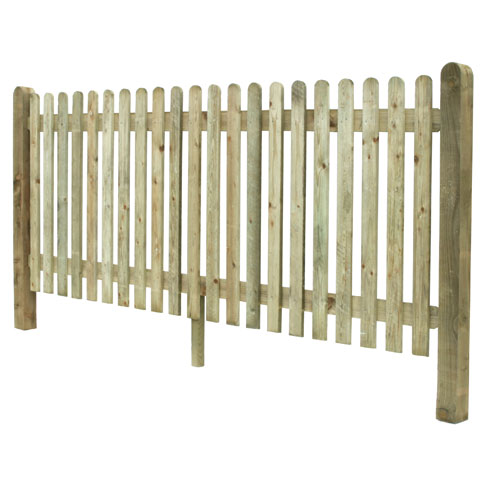 Prepared Round top Palisade Fencing