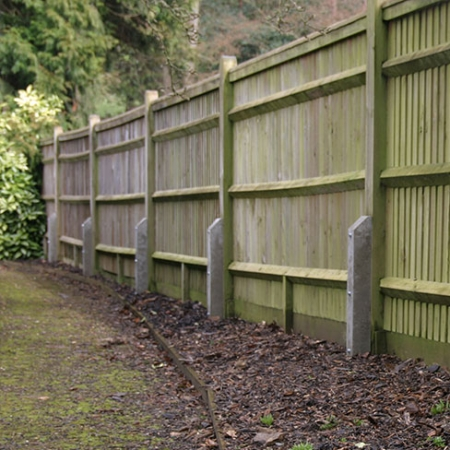Concrete Repair Spurs installed on fence run
