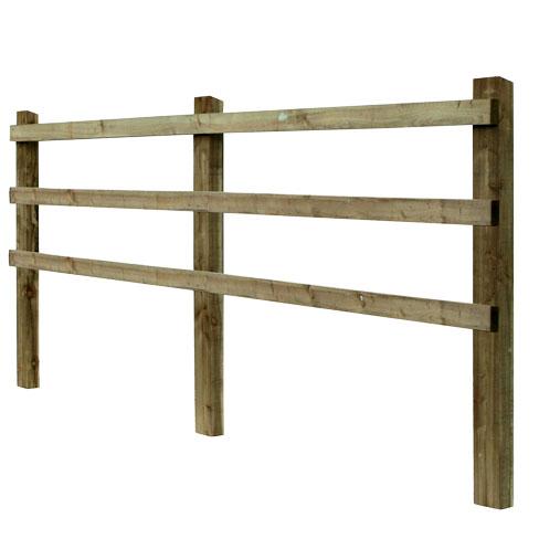 Post and Rail fencing - Nailed (3 Rail)