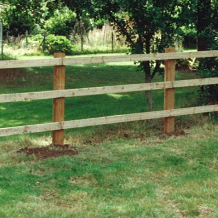 Softwood Nail-on Post and 3 Rail