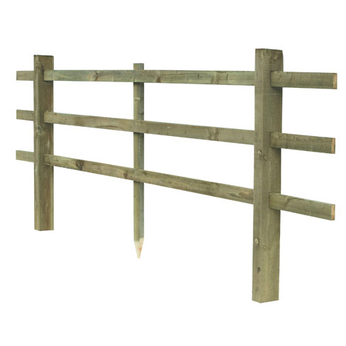 Scarfed And Mortised Post And Rail Fencing 3 Rail Gt Post