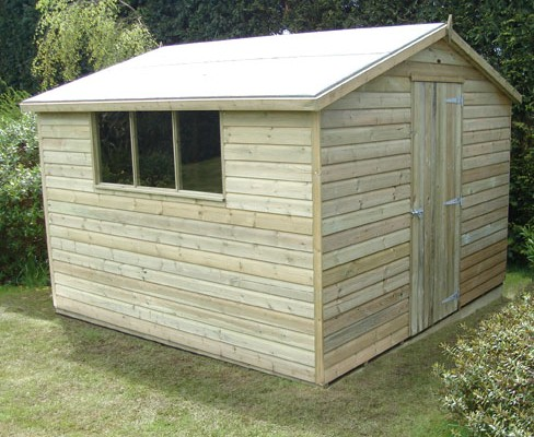 Large gable shiplap shed