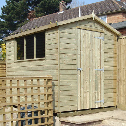 Small gable shiplap shed