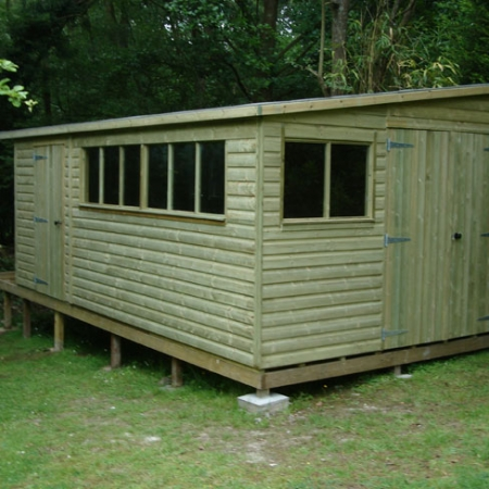 Extra windows on a pent roof shiplap shed