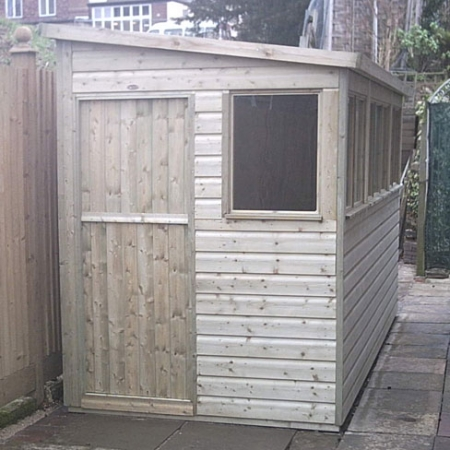 Small pent roof shed