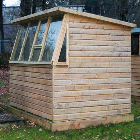 TATE Fencing Potting Shed installed on site