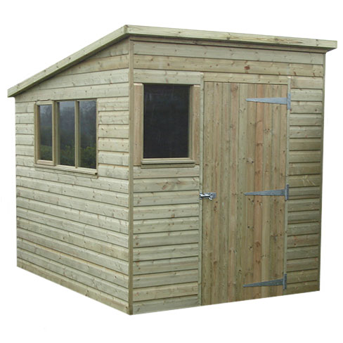 Pent Shiplap Garden Shed example