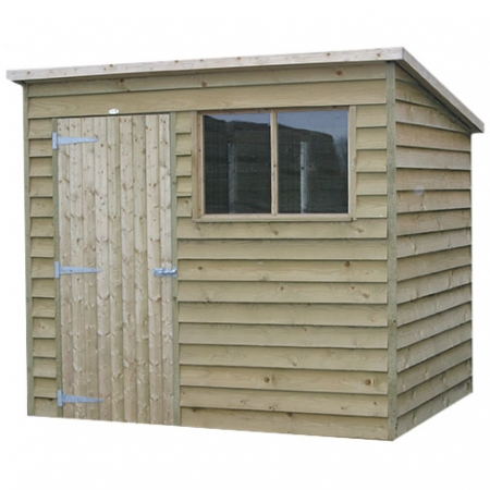 Pent Weatherboard Garden Shed front