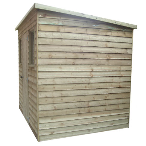 Pent Weatherboard Shed side