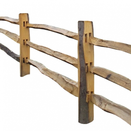 Chestnut Post and Rail - 3 rail