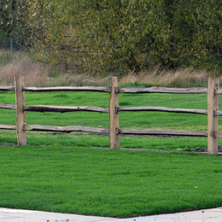 Cleft Chestnut Post and 3 rail fencing