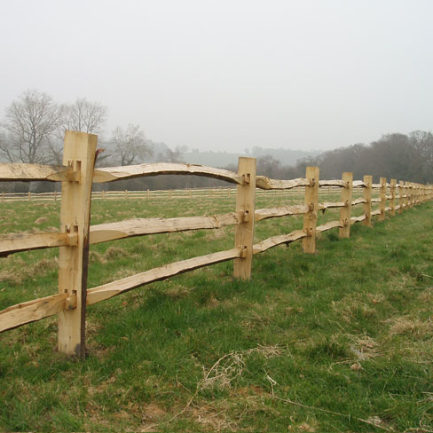 Cleft Chestnut Post and 3 rail - rustic field fencing