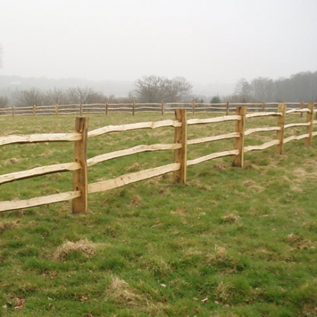 Cleft Chestnut Post and 3 rail