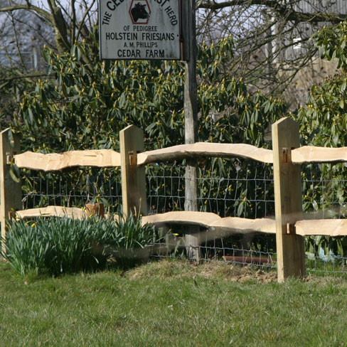 Softwood Post and Chestnut Rail