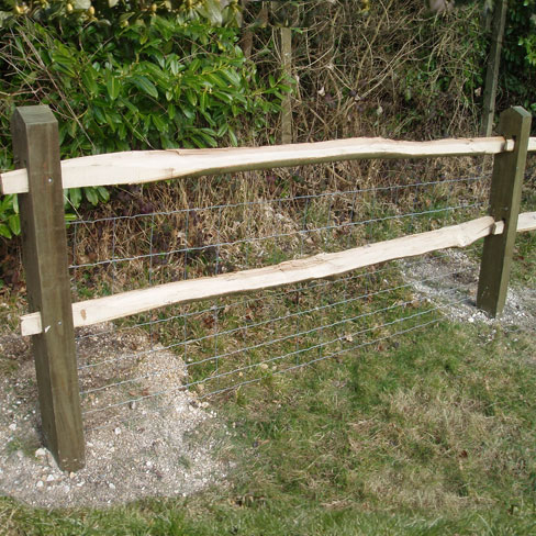 Softwood Post and Chestnut Rail - detailing