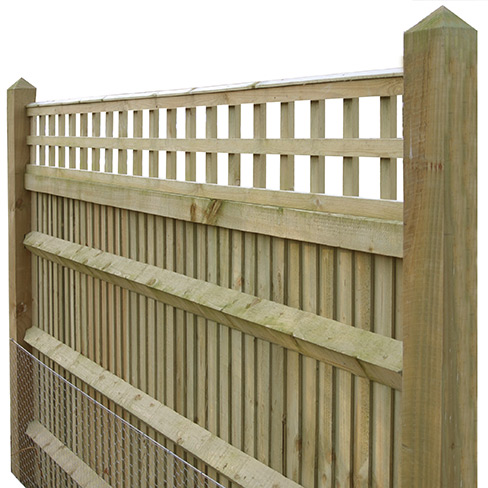 Closeboard Kit form with 300mm trellis detail