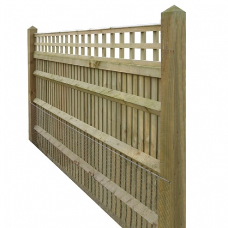 Closeboard Kit form with 300mm trellis side view