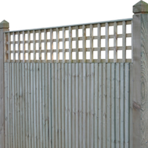 Closeboard Kit form with 450mm trellis