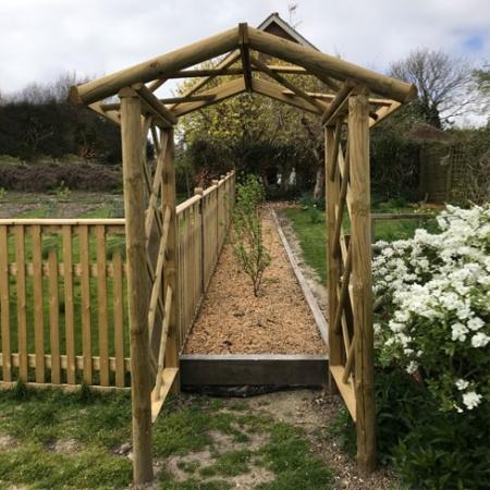 Cottage arch installed