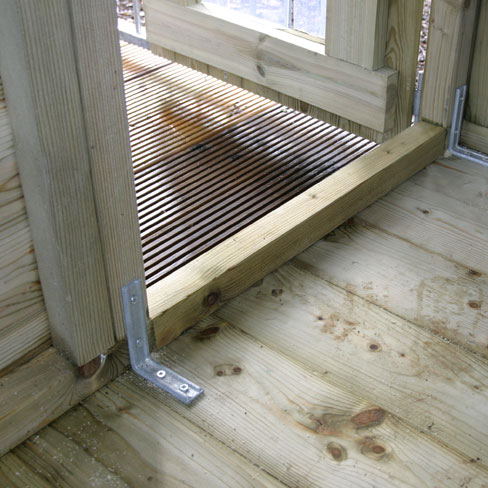 Dog Run and Kennel inside the door detail, showing the door fitting