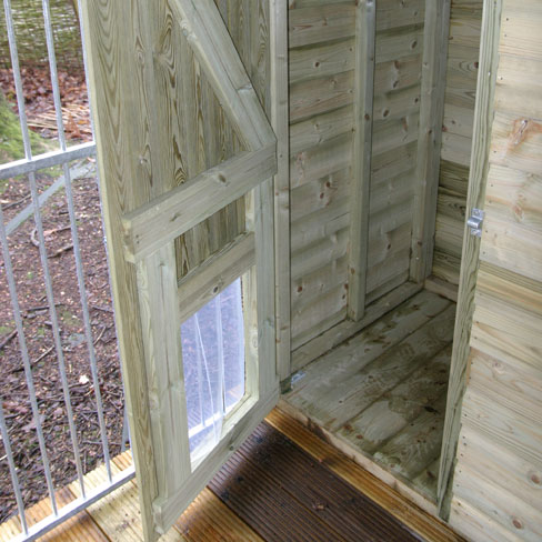 Dog Run and Kennel combination door construction details
