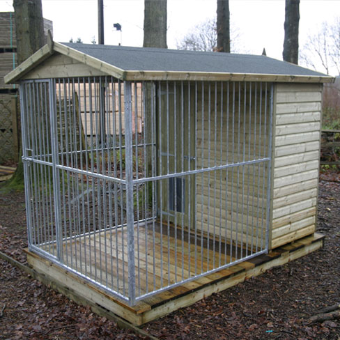 Dog run and kennel dog runs kennels tate fencing for What is dog boarding